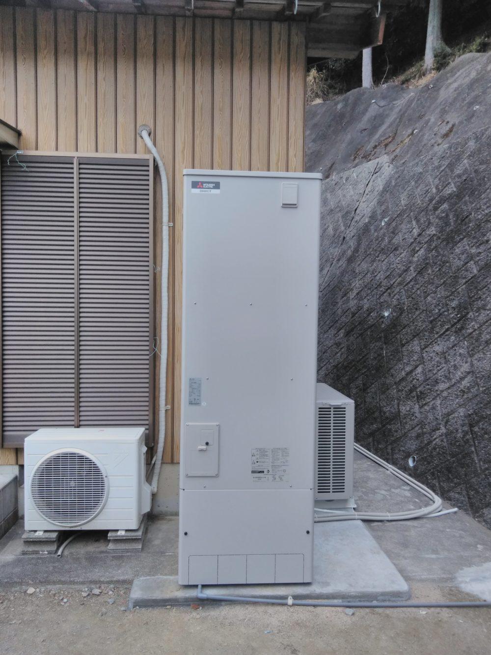 奈良県三菱エコキュートSRT-NK464D施工後の写真