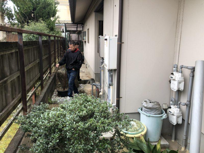 奈良県三菱エコキュートSRT-W373施工前の写真