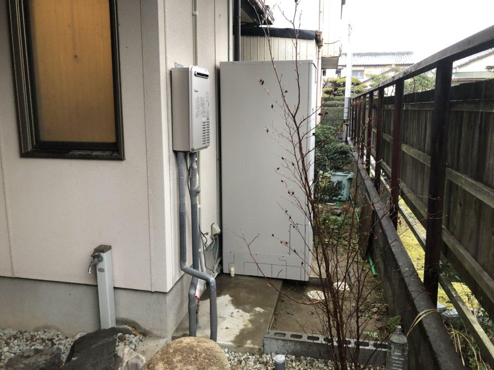 奈良県三菱エコキュートSRT-W373施工後の写真