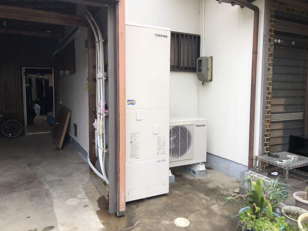 大阪府東芝エコキュートHWH-B465N施工後の写真