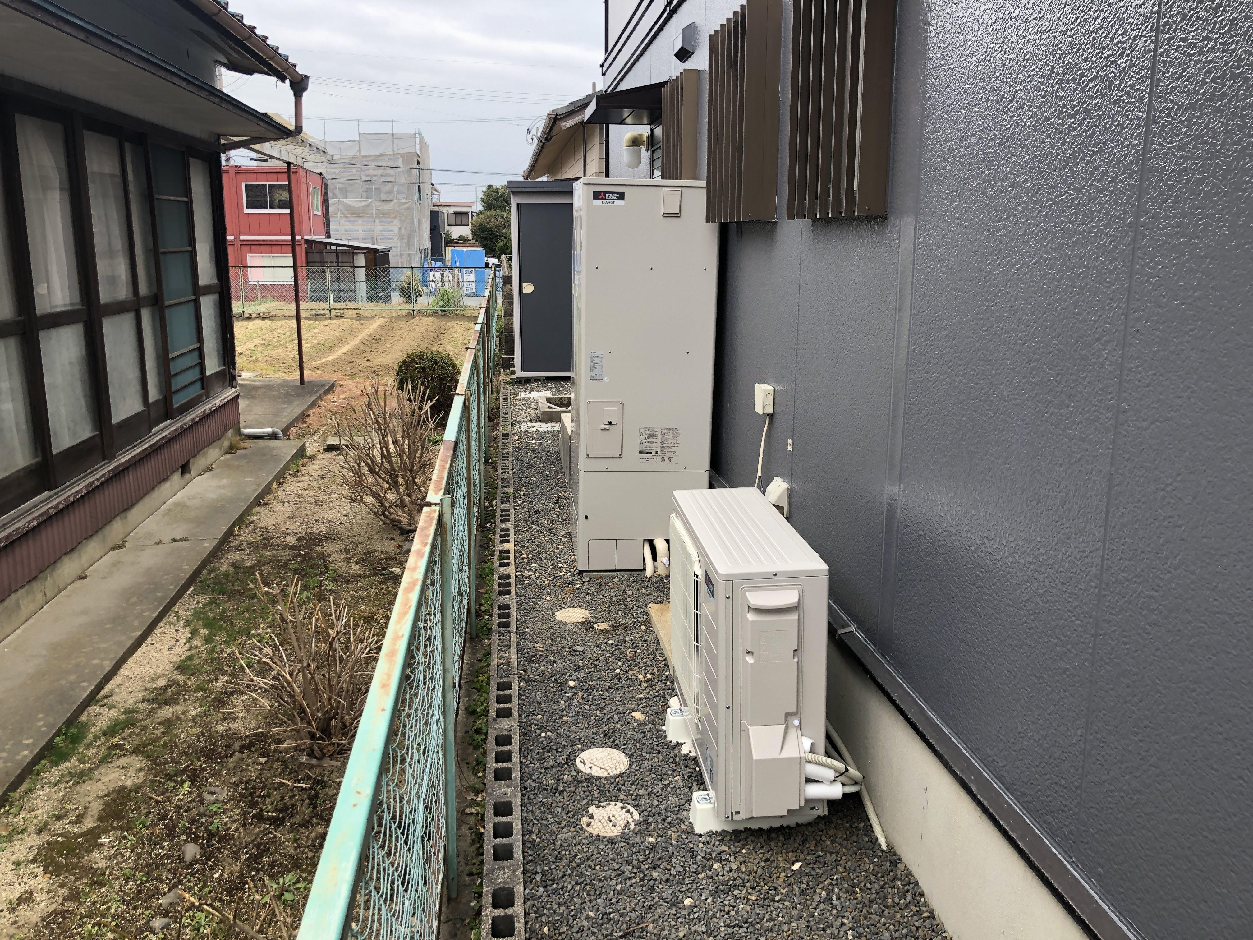 大阪府三菱エコキュートSRT-NK374D施工後の写真