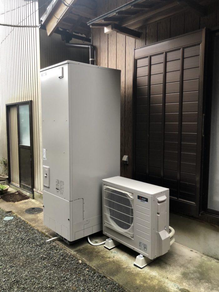 奈良県三菱エコキュートSRT-WK464施工後の写真