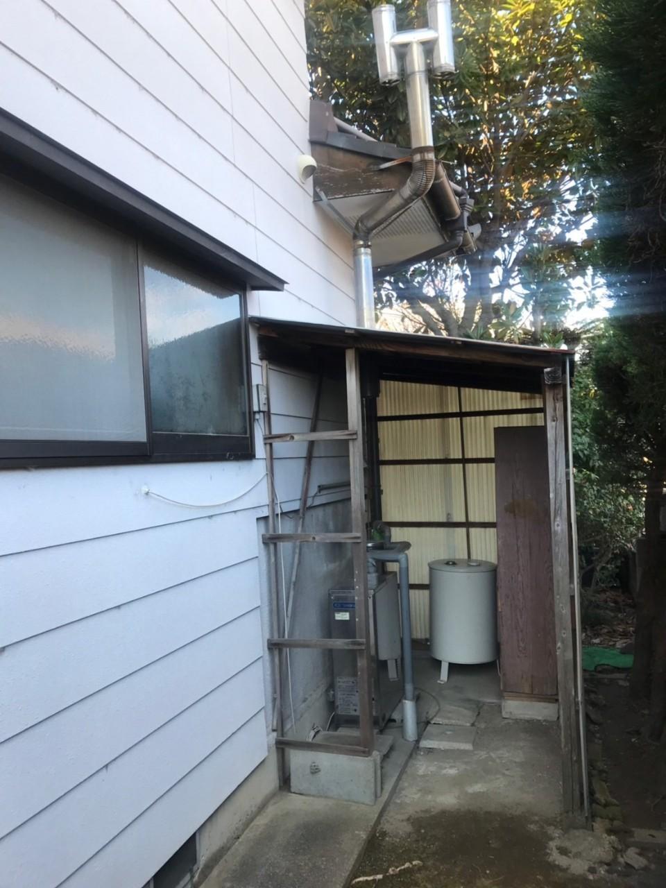 大阪府東芝エコキュートHWH-B376-GZ施工前の写真