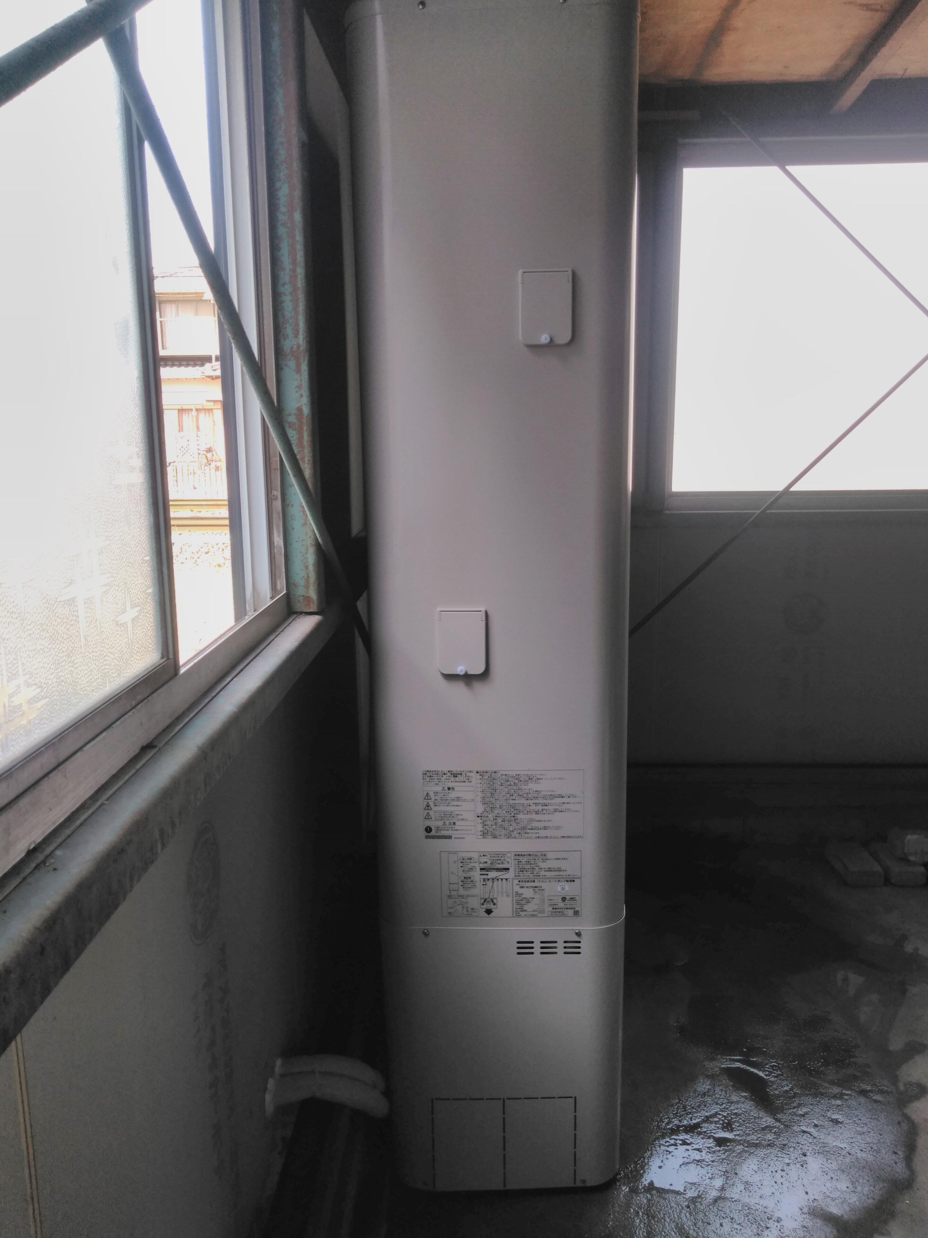 大阪府三菱IHクッキングヒーターCS-G32MS東芝エコキュートHWH-B466N施工後の写真