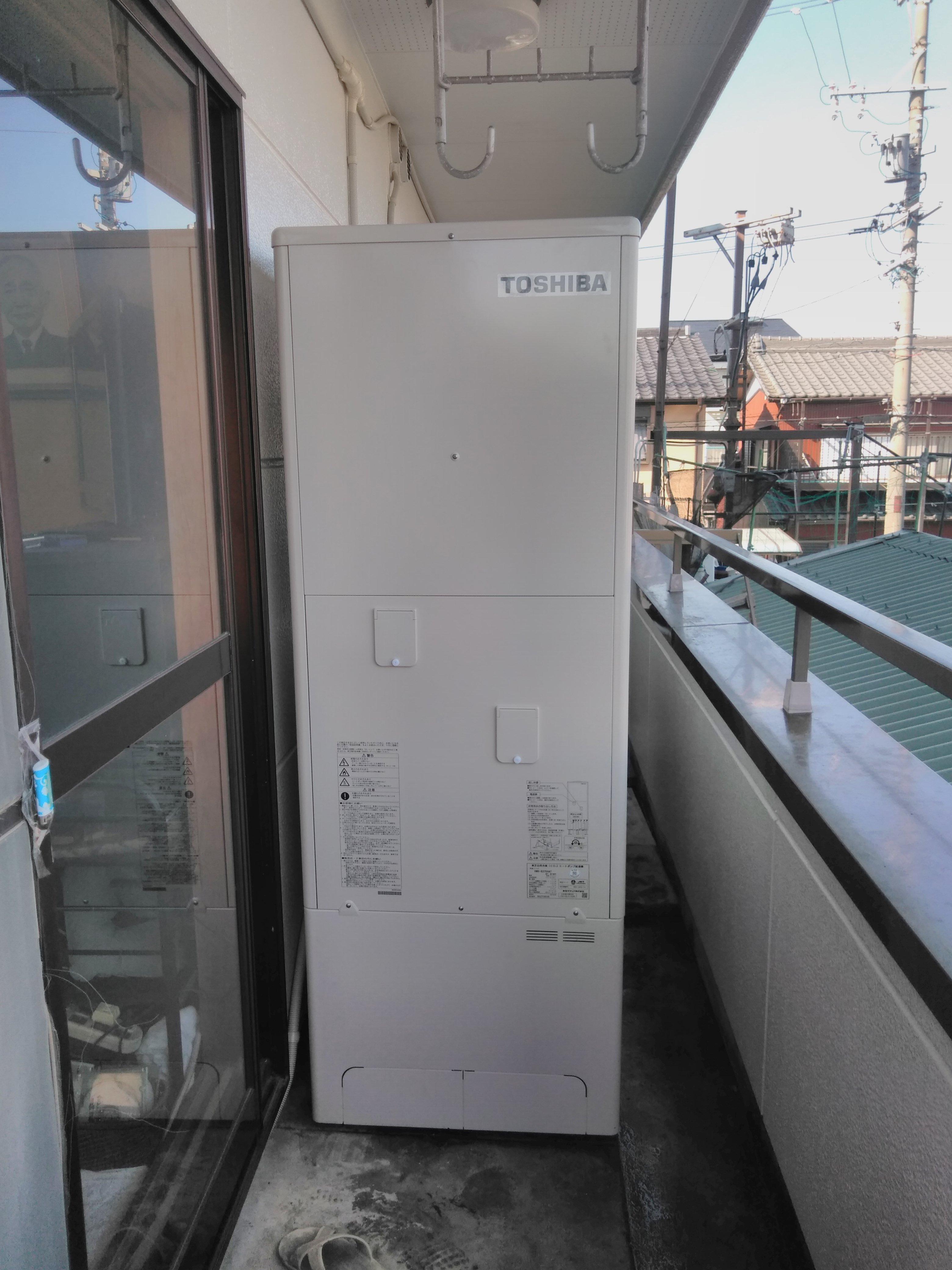 大阪府東芝エコキュートHWH-B376H施工後の写真