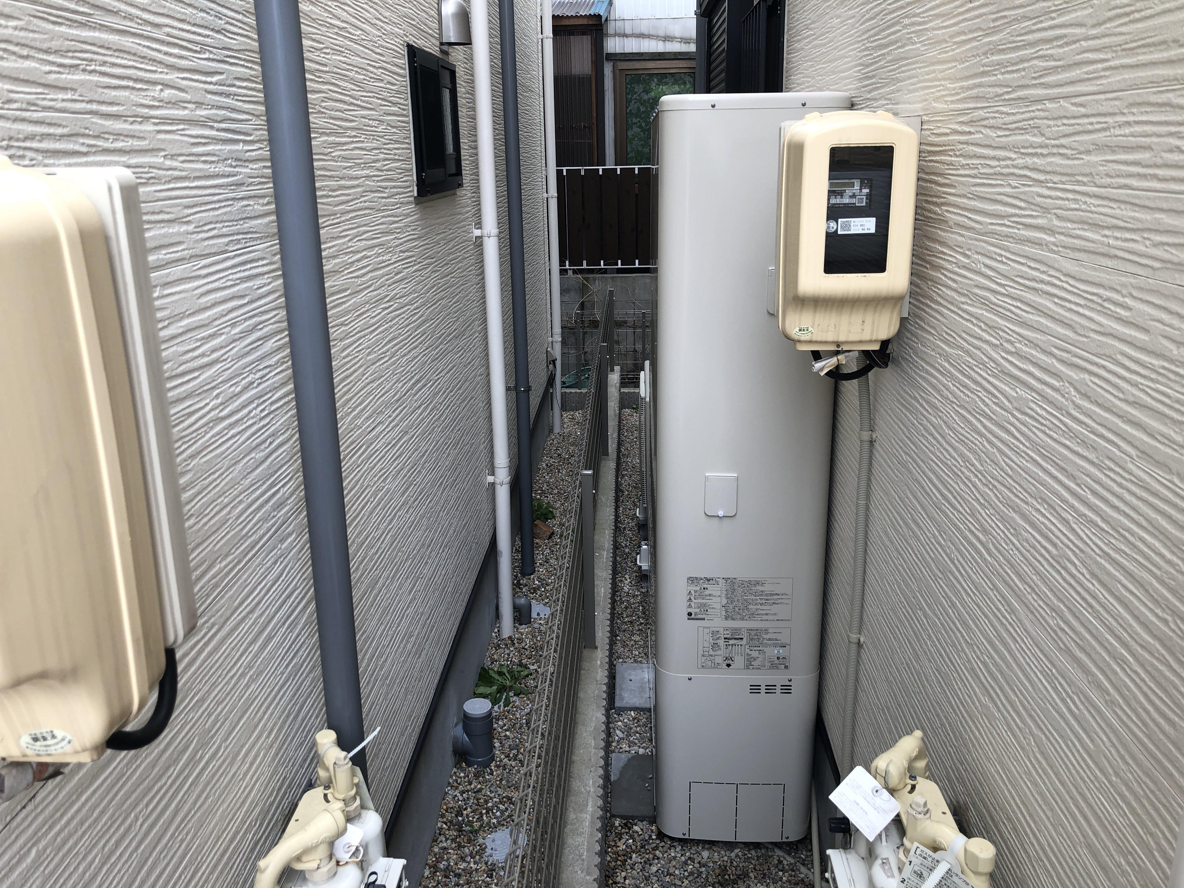 大阪府東芝エコキュートHWH-B375HWAV施工後の写真