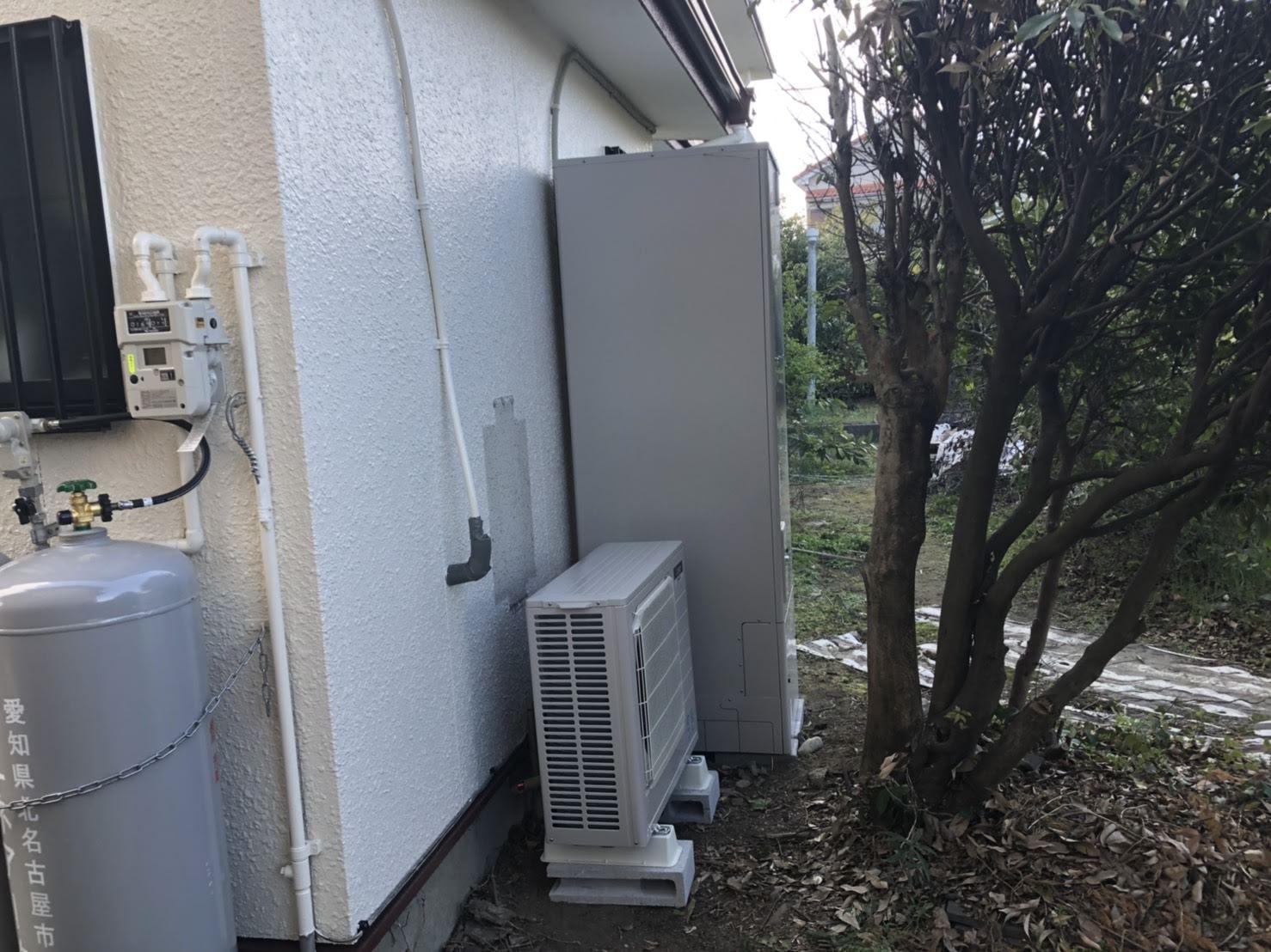 大阪府三菱エコキュートSRT-SK374施工後の写真