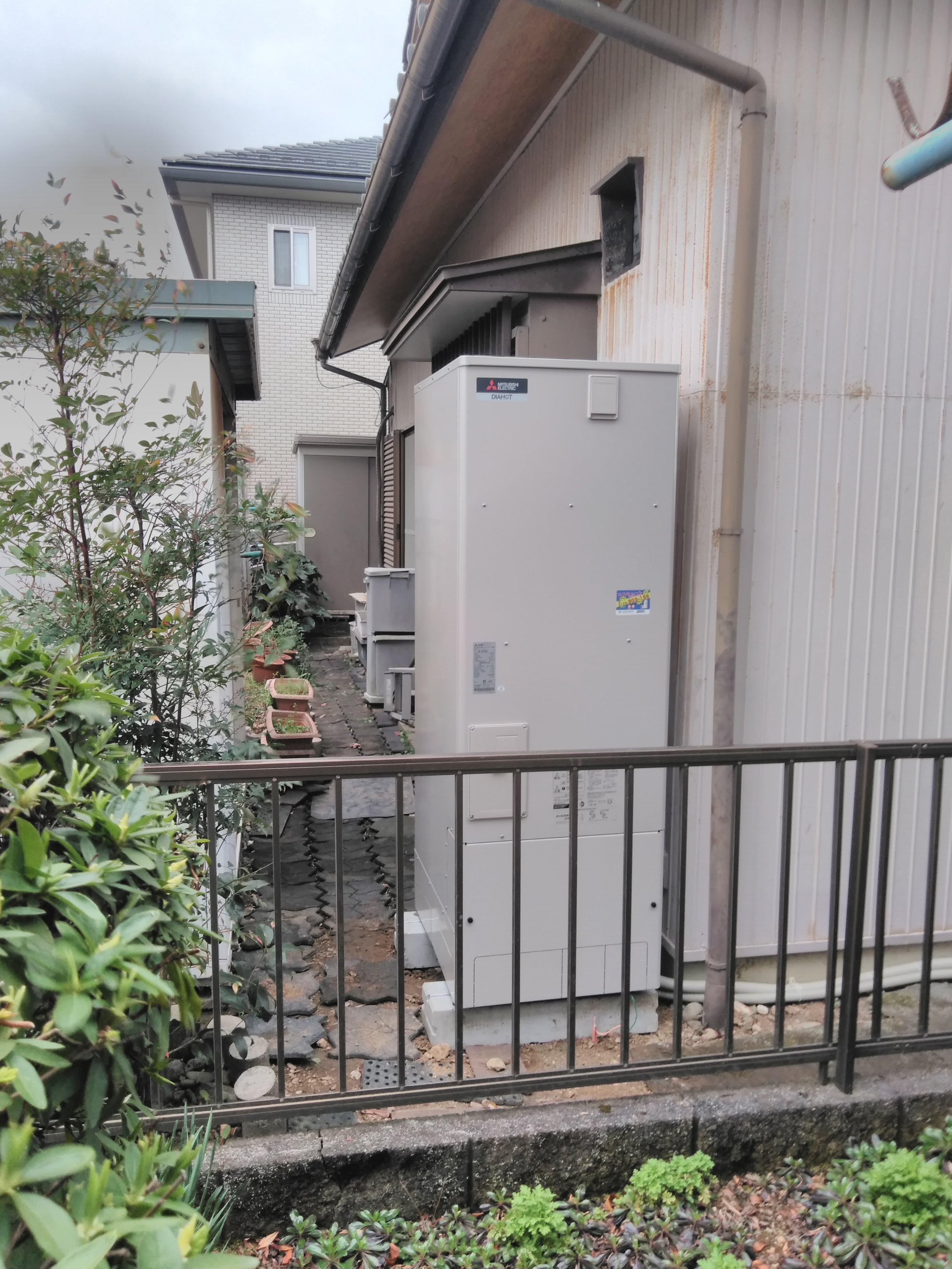 大阪府三菱エコキュートSRT-SK374U施工後の写真