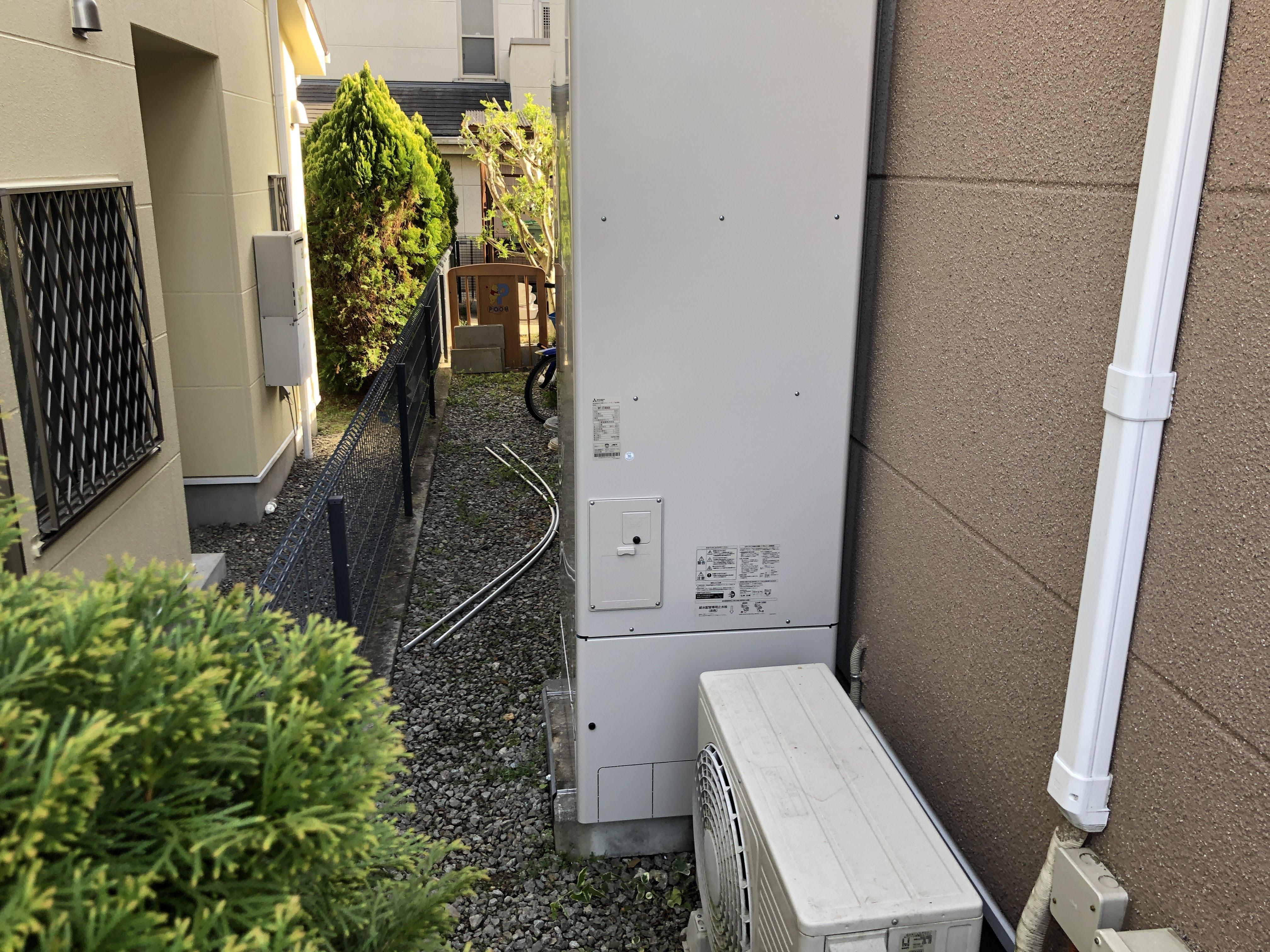 大阪府三菱エコキュートSRT-SK464UA施工後の写真