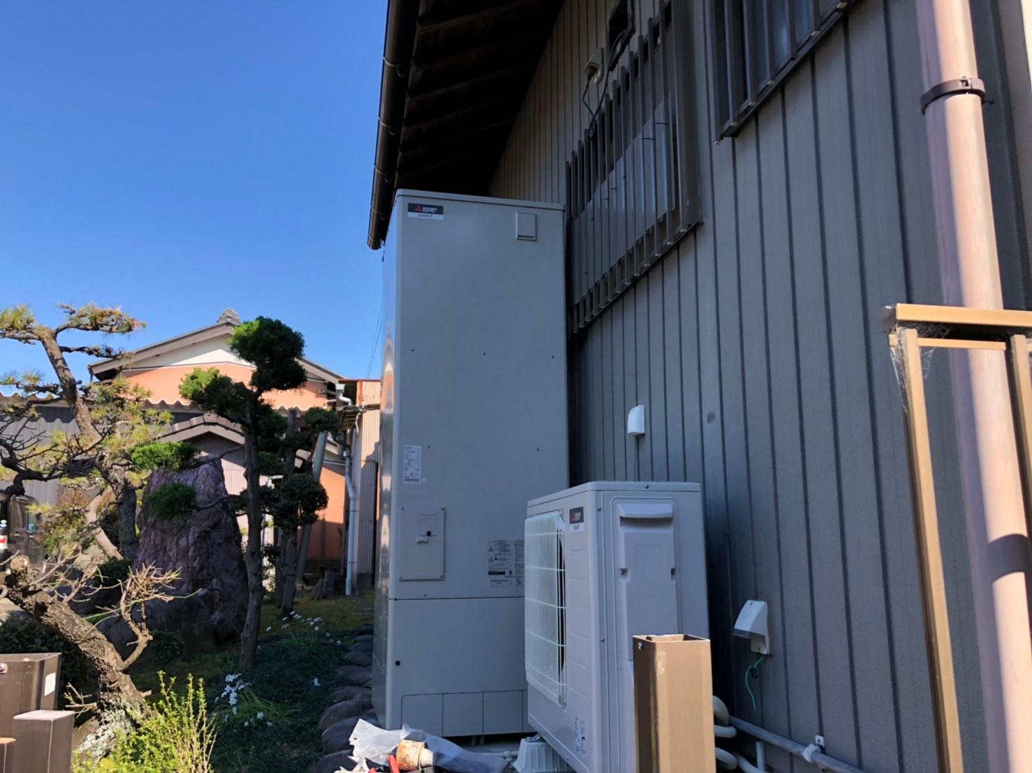 大阪府三菱エコキュートSRT-S374A施工後の写真