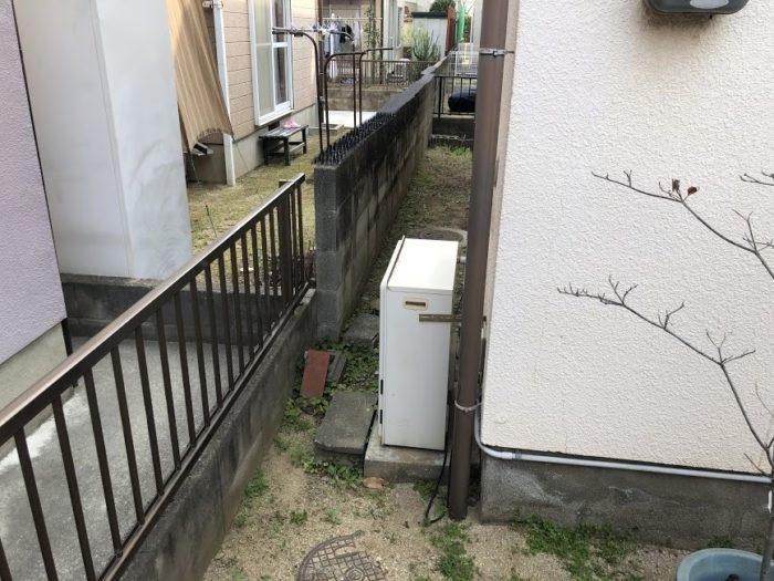 大阪府東芝エコキュートHWH -B376施工前の写真