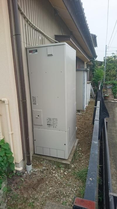 兵庫県三菱エコキュートSRT-S374UA施工後の写真