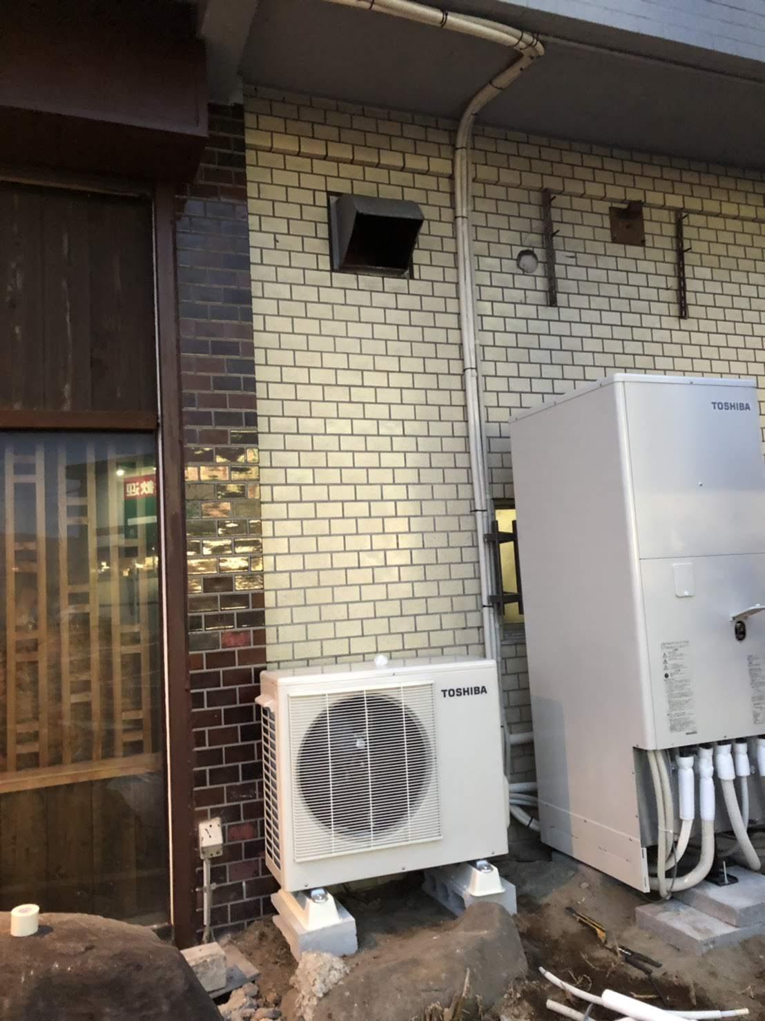 大阪府東芝エコキュートHWH-B375施工後の写真