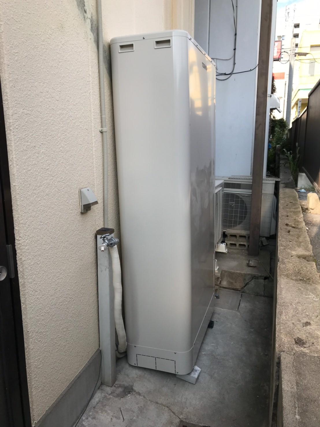 兵庫県東芝エコキュート HWH-B376HW施工後の写真