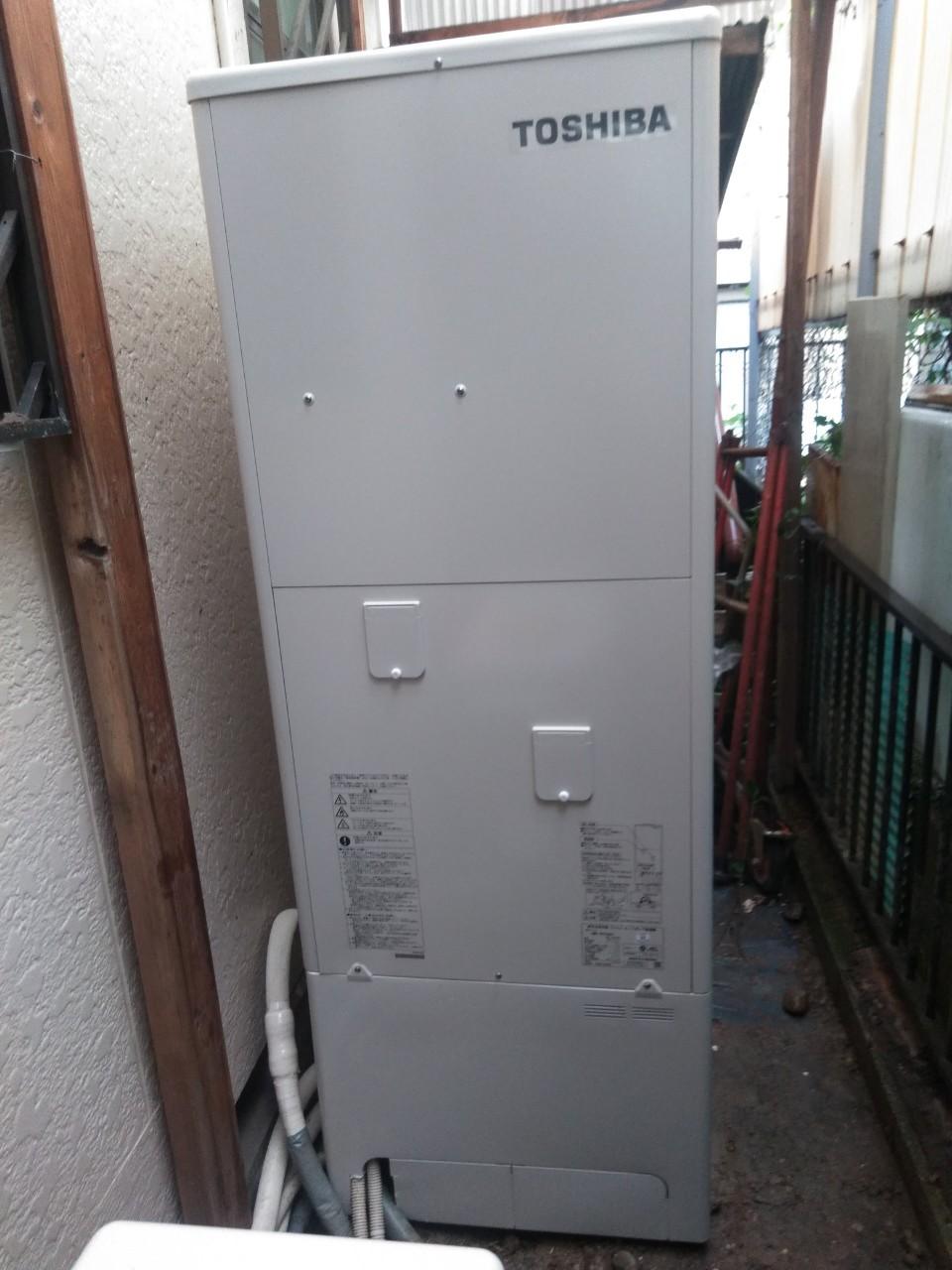 兵庫県東芝エコキュートHWH-B376H施工後の写真