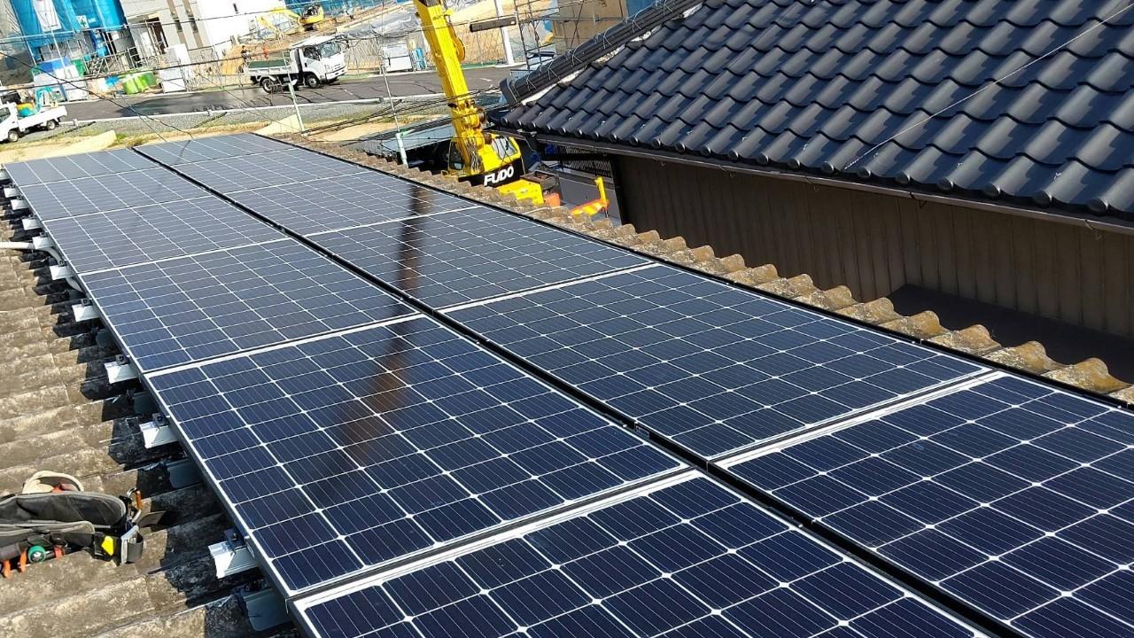 兵庫県長州産業5.48kwシステム施工後の写真