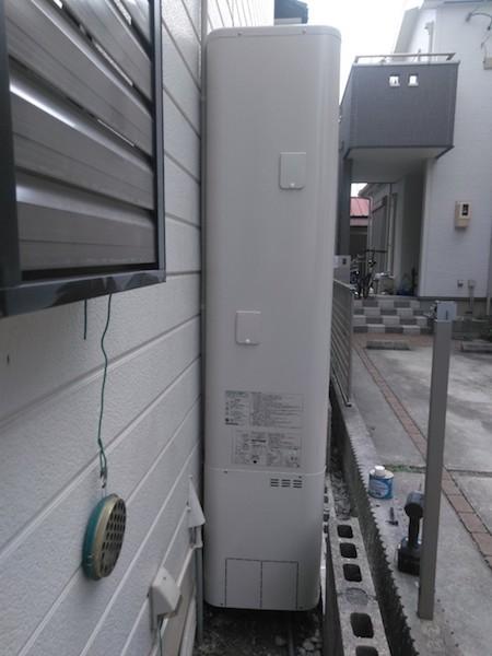 奈良県東芝エコキュートHWH-B375HWAV施工後の写真