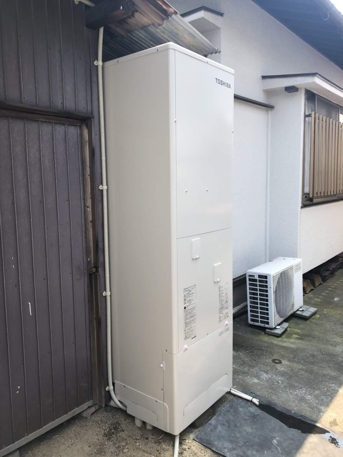 兵庫県東芝エコキュートHWH-B375HA施工後の写真