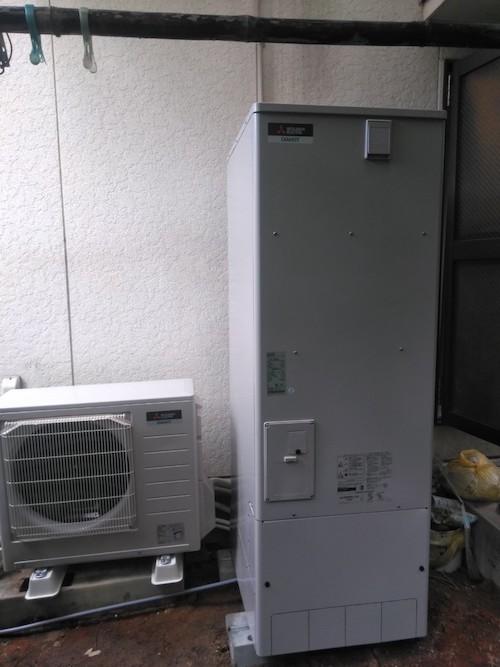 兵庫県三菱エコキュートSRT-P373B施工後の写真
