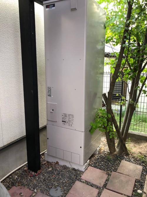 大阪府三菱エコキュートSRT-W464施工後の写真