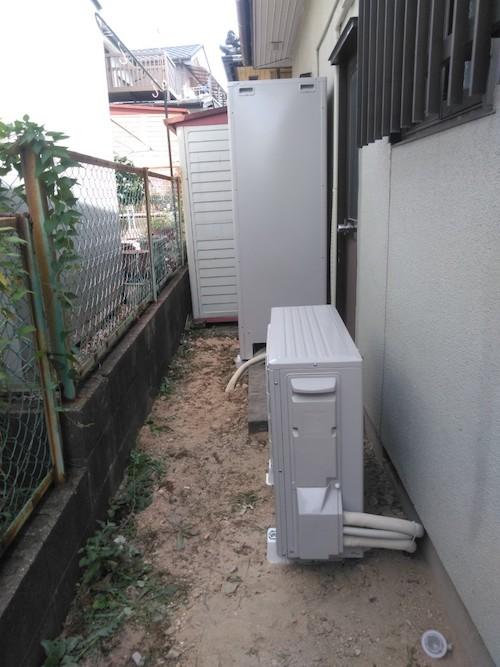 奈良県三菱エコキュート SRT-W374施工後の写真