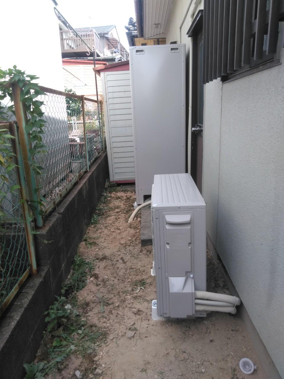 兵庫県東芝エコキュートHWH-466HA施工後の写真