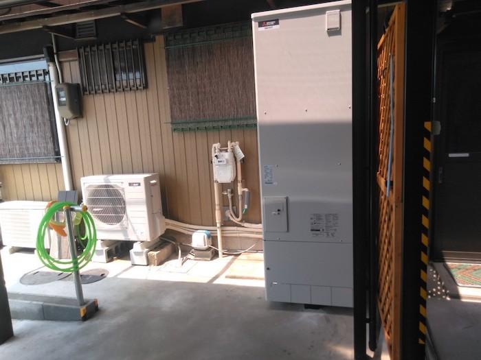 奈良県三菱エコキュートSRT-P374UB施工後の写真