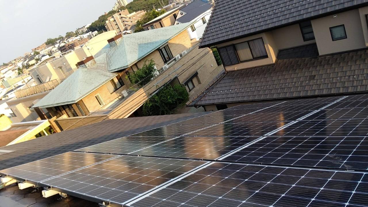 兵庫県Q CELLS6.1kwシステム施工後の写真