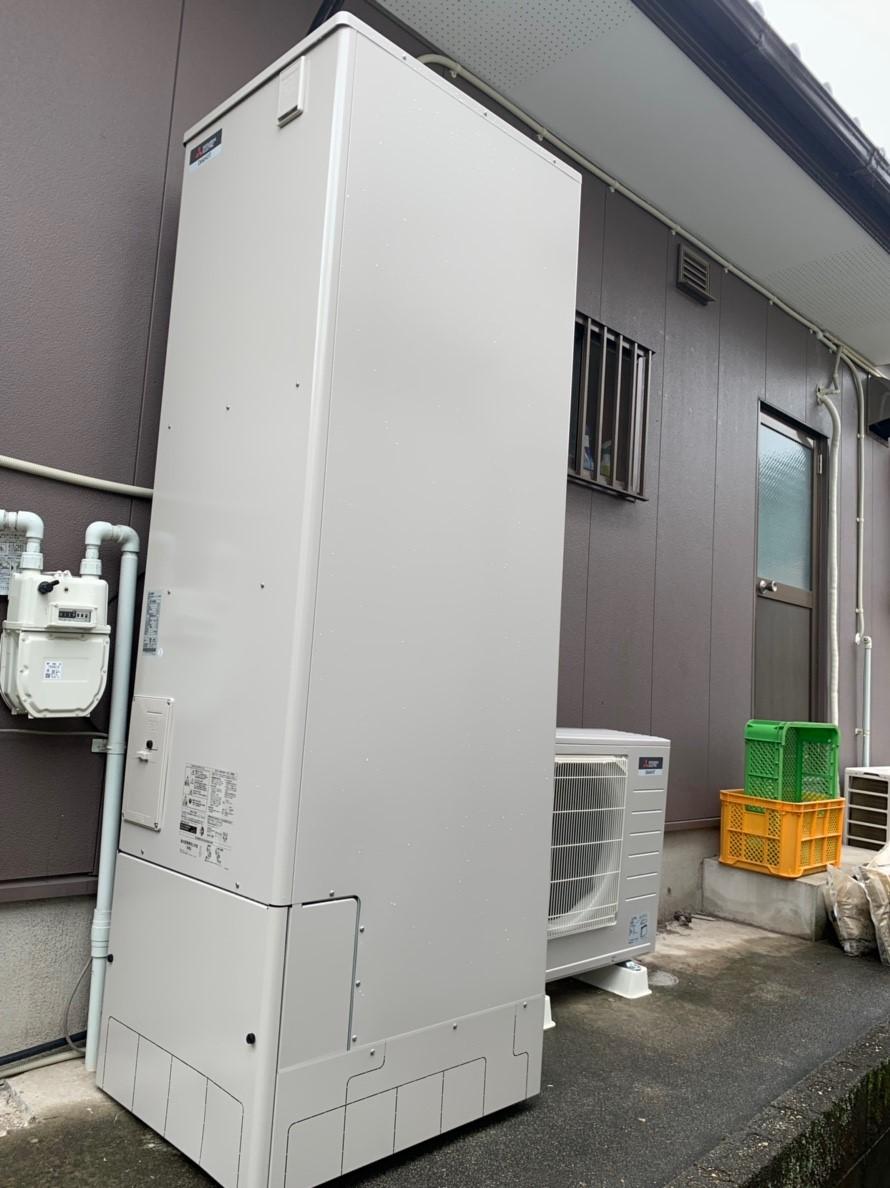 大阪府三菱エコキュートSRT-P554UB施工後の写真