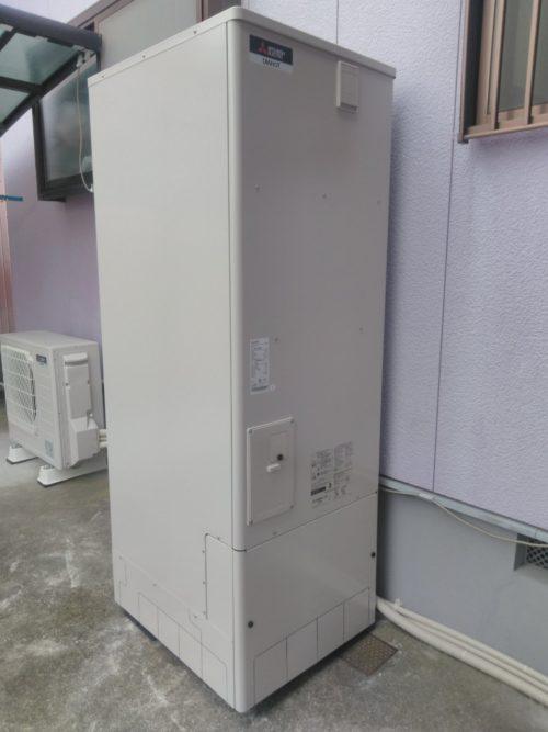大阪府三菱エコキュートSRT-S374U施工後の写真