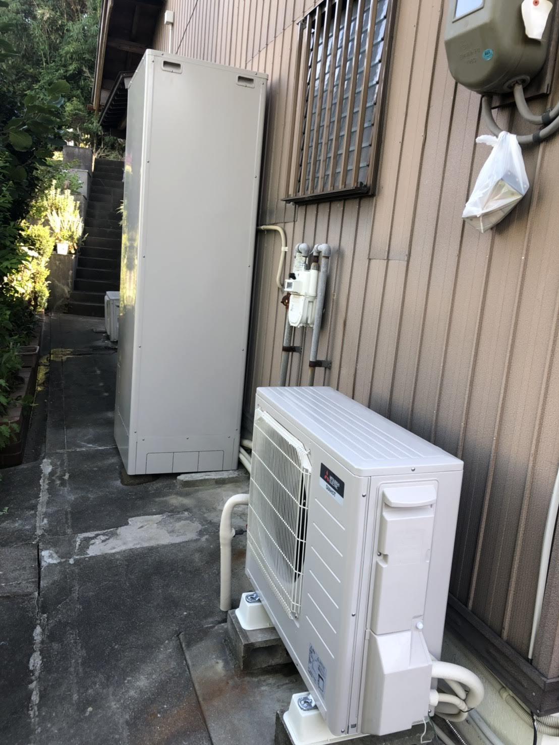 三菱エコキュートSRT-S464U施工後の写真