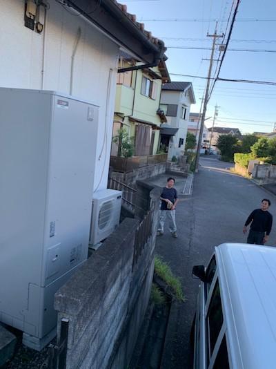 大阪府三菱エコキュートSRT-P374B施工後の写真