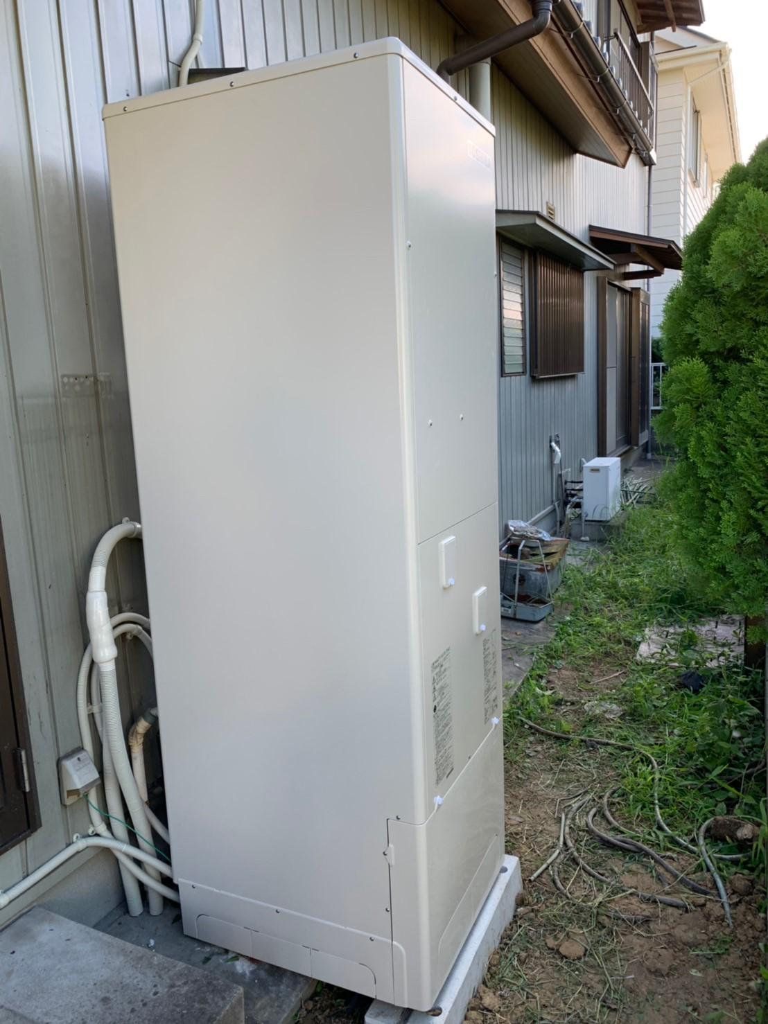 大阪府東芝エコキュートHWH -B376施工後の写真