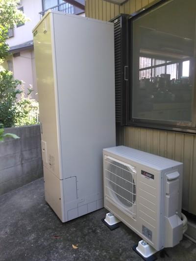 兵庫県三菱エコキュートSRT-P464UB施工後の写真