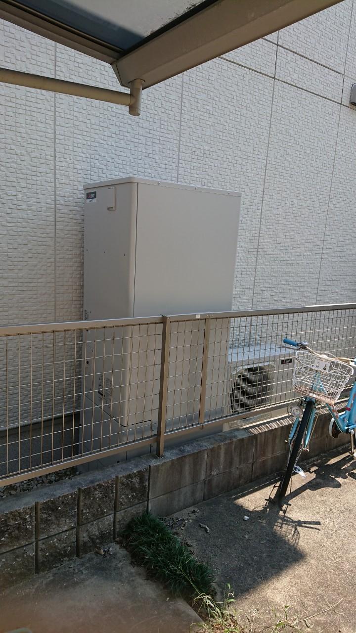三菱エコキュート施工後の写真