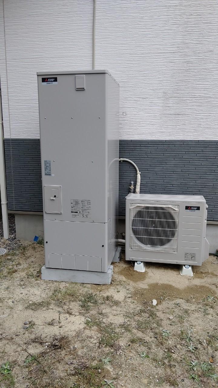 大阪府三菱エコキュートSRT-W374施工後の写真