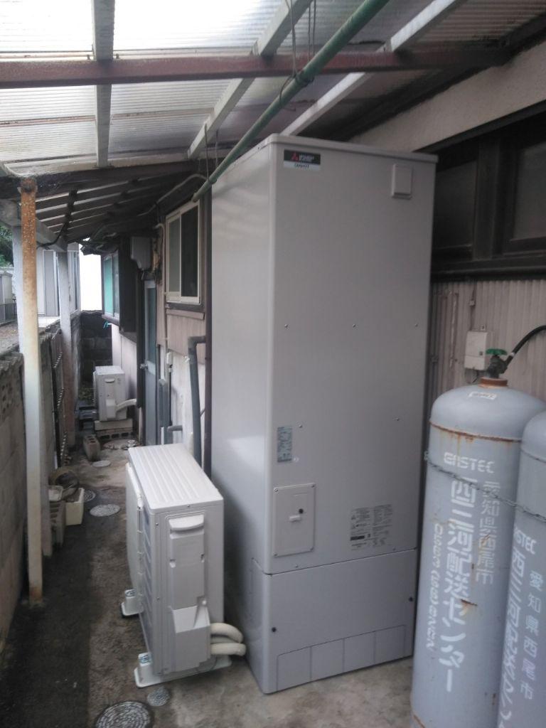 愛知県三菱エコキュートSRT-S374UA施工後の写真