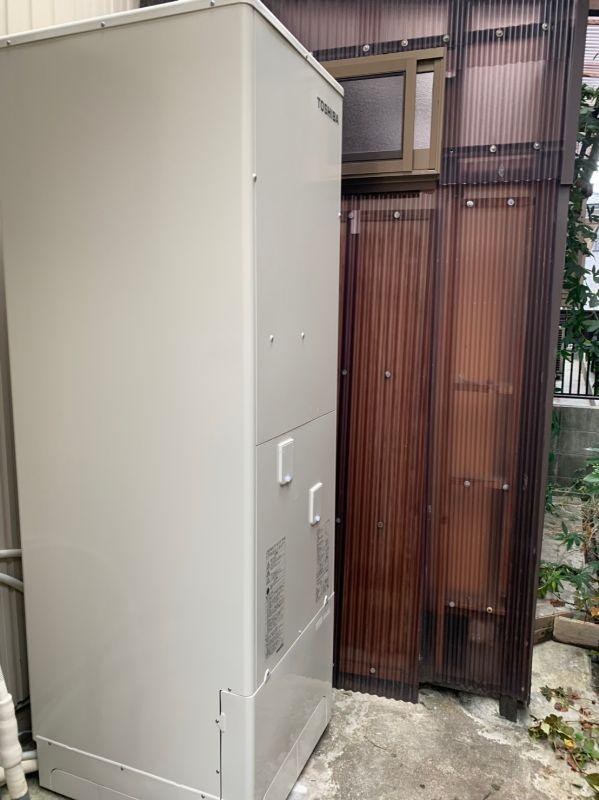 大阪府東芝エコキュートHWH-F466H施工後の写真