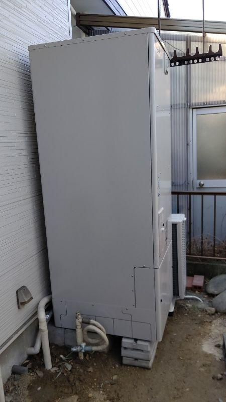 兵庫県三菱エコキュートSRT-S374UA三菱浴室乾燥機V-141BZ 施工後の写真