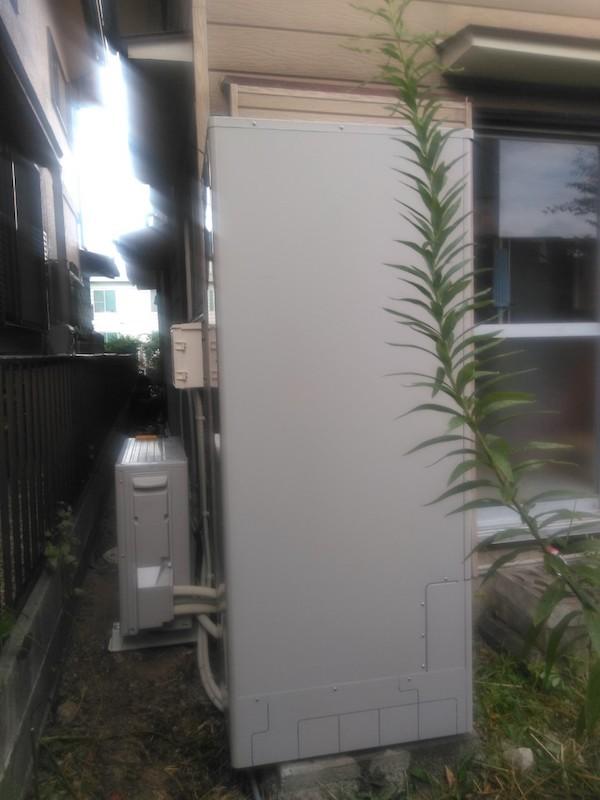 大阪府三菱エコキュートSRT-S464U施工後の写真