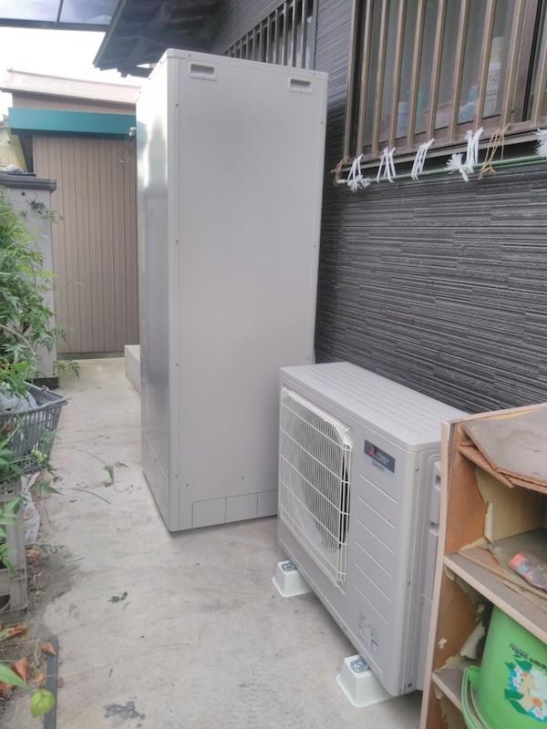 大阪府三菱エコキュートSRT-P374UB施工後の写真