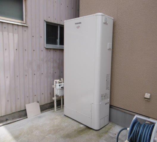 大阪府東芝エコキュート HWH-B376HWA施工後の写真