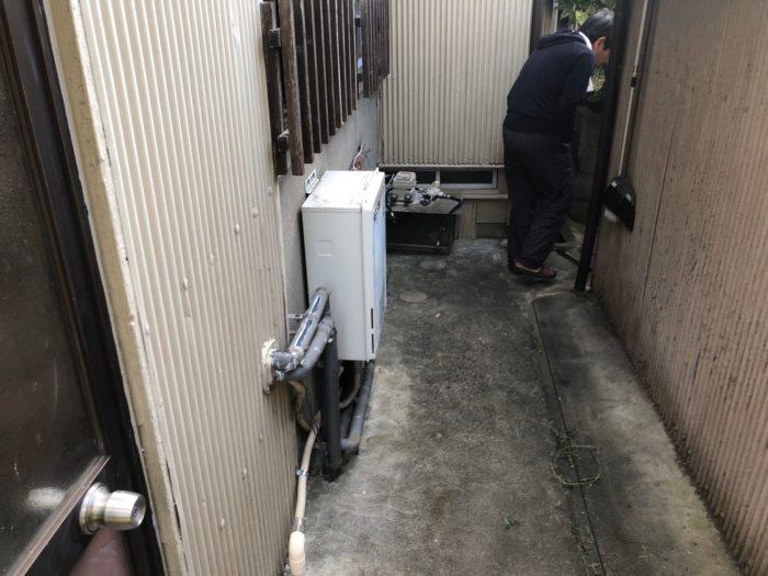 大阪府三菱エコキュートSRT-S374UA施工前の写真