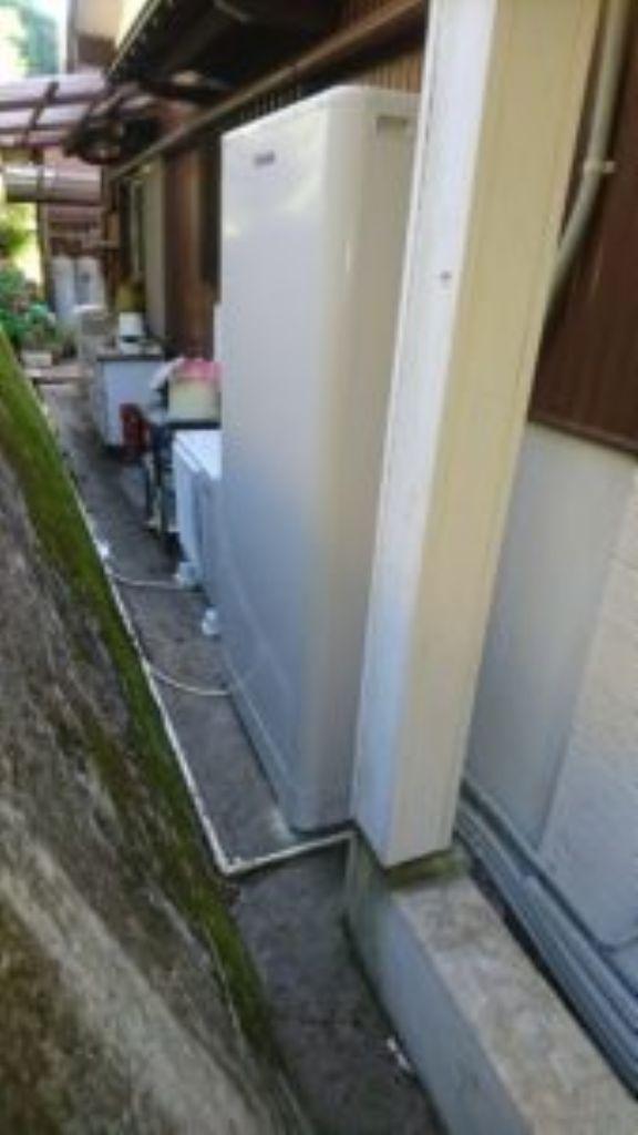 兵庫県東芝エコキュートHWH-B376HWA施工後の写真