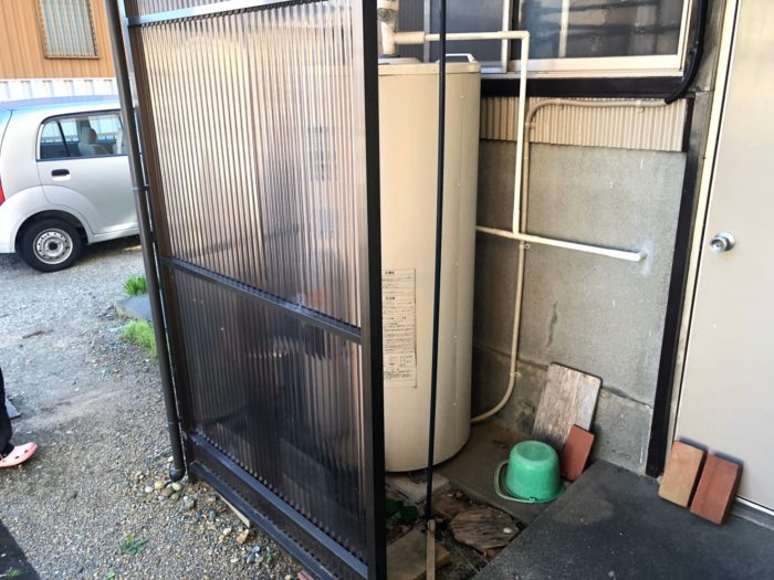 奈良県東芝エコキュートHWH-B376H施工前の写真