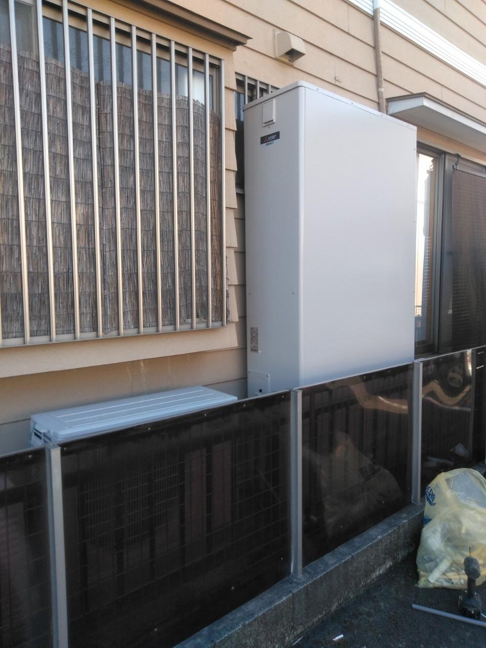大阪府三菱エコキュート SRT-W374Z施工後の写真