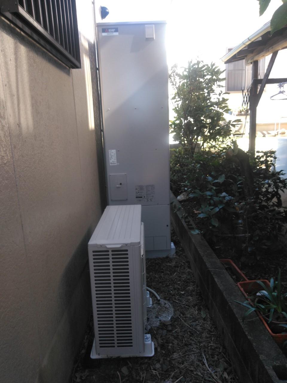 大阪府三菱エコキュートSRTS464U施工後の写真