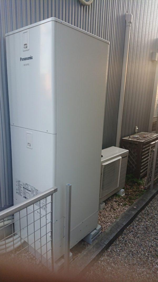 大阪府パナソニックエコキュート施工後の写真