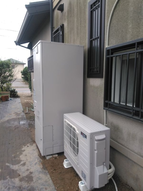 兵庫県三菱エコキュートSRT-S374UA洋室乾燥機V141BZ施工後の写真