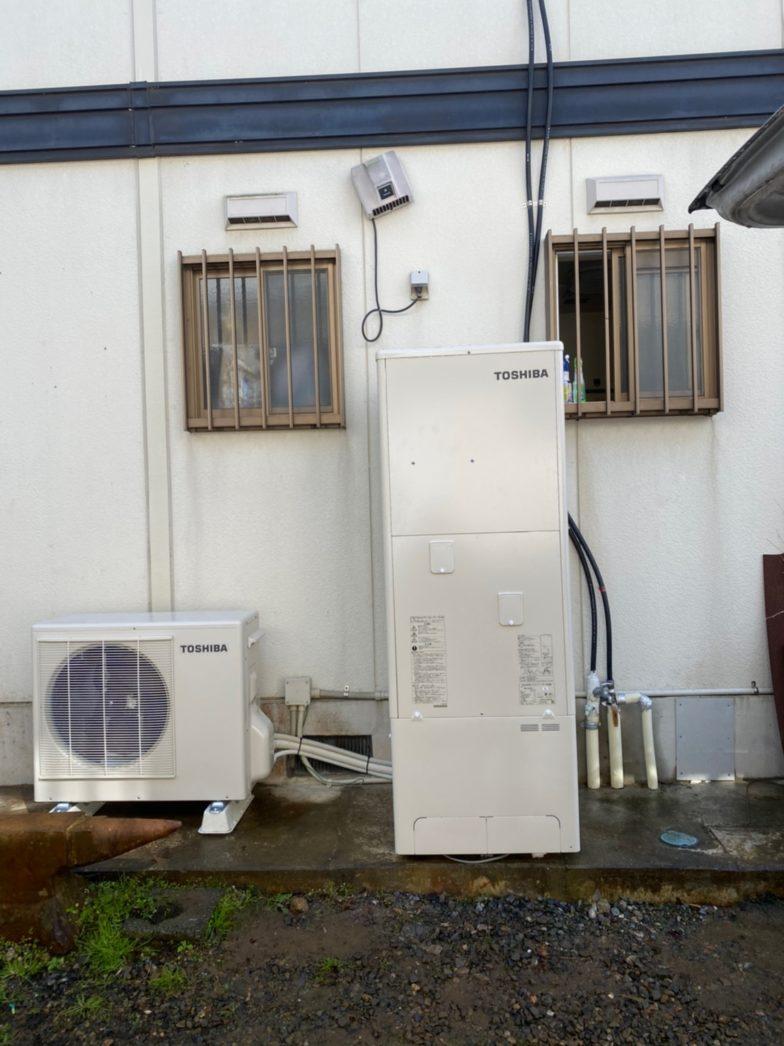 奈良県東芝エコキュートHEH-B376H施工後の写真